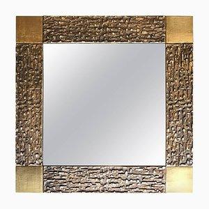 Espejo de bronce de Luciano Frigerio, años 70