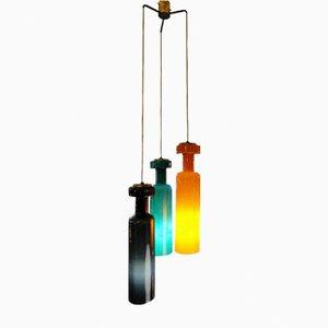 Lampada a sospensione in vetro di Murano multicolore di Stilnovo, anni '60