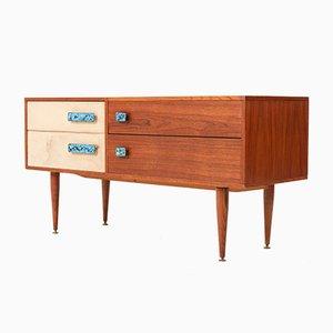 Aparador o mueble bar francés Mid-Century de teca, años 60
