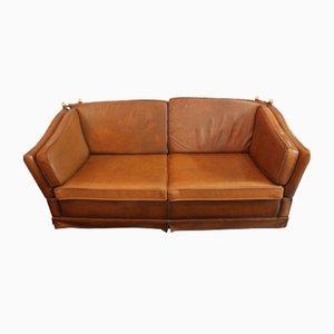 Sofá de cuero, años 70