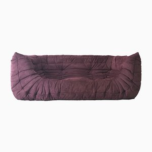Vintage Purple Togo Sofa with Arms by Michel Ducaroy for Ligne Roset