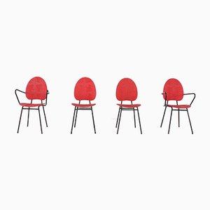 Chaises Vintage par Jacques Hitier, Set de 4