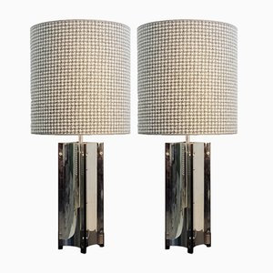 Chrome Table Lamps, 1970s, Set of 2