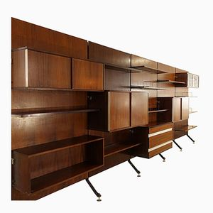 Urio Wall Unit by Ico Parisi for M.I.M. Roma, 1960s