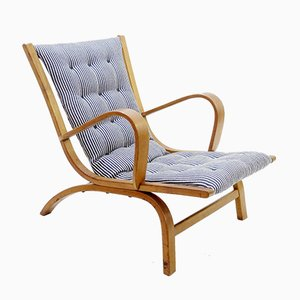 Wood Lounge Chairs, Set of 2
