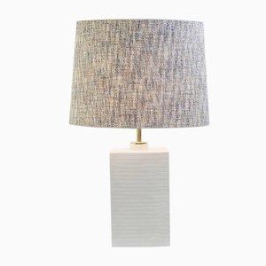 Lampe de Bureau en Céramique Blanche par Ugo Zaccagnini, Italie, 1980s