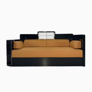 Black Art Deco Sofa, 1920s