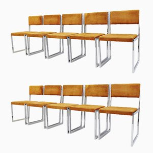 Italian Chairs By Willy Rizzo, 1970s, Set of 10