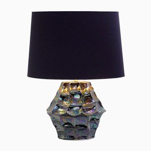 Iridescent Ceramic Table Lamp, 1970s
