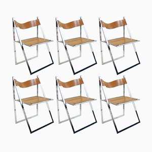 Elios Folding Chairs from Fontoni & Geraci, 1960s, Set of 6