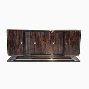 Art Deco Macassar Sideboard with Black Interior, 1920s