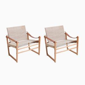 Bengt Ruda Safari Chairs by Bengt Ruda for Ikea, 1960s, Set of 2
