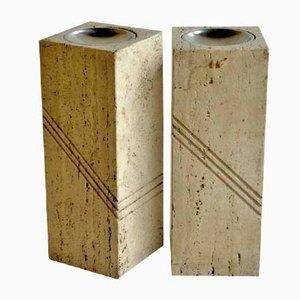 Cendriers en Travertine, 1970s, Set de 2