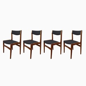 Danish Teak Chairs by Erik Buch for Anderstrup Møbelfabrik, 1960s, Set of 4