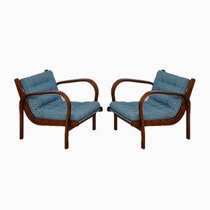 Lounge Chairs by K. Kozelka & A. Kropacek for Interier Praha, 1940s, Set of 2