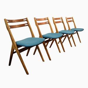 Sillas de comedor de teca y roble de Edmund Jørgensen para Jørgensen Møbelfabrik, años 60. Juego de 4