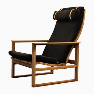 Mid-Century Modell 2254 Eichenholz Sessel von Børge Mogensen für Fredericia