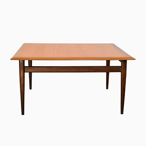 Table Basse en Teck Carrée, 1960s