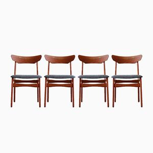 Teak Dining Chairs from Schiønning & Elgaard, 1960s, Set of 4