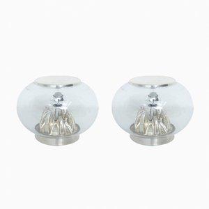 Kuppelförmige Murano Glas Tischlampen, 1970er, 2er Set