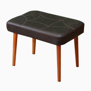 Danish Mid-Century Brown Skai Footstool