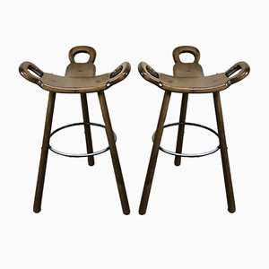 Mid-Century Swedish Barstools, 1950s, Set of 2