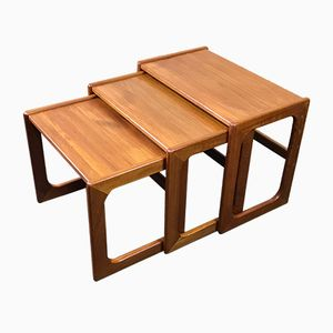 Danish Teak Nesting Tables, 1970s