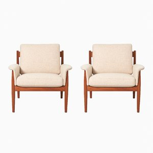 Armchairs by Grete Jalk for France & Søn, 1960s, Set of 2