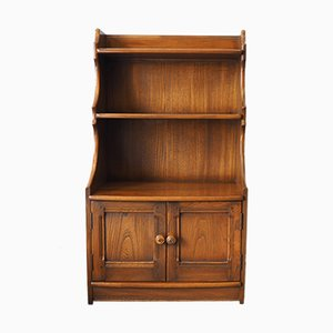 Mid-Century Waterfall Bookcase in Elm from Ercol