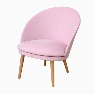 Mid-Century Rose Pink Slipper Chair