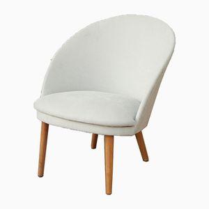 Mid-Century Duck Egg Blue Slipper Chair