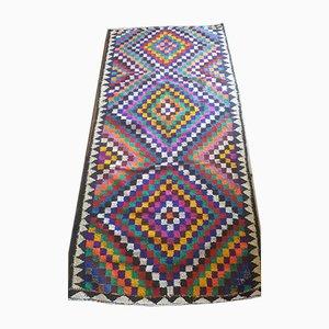 Mehrfarbiger Vintage Würfel Teppich