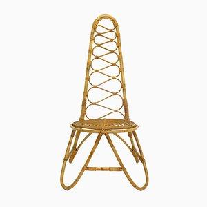 Silla de bambú, años 70