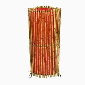 Lámpara de pie de bambú, años 70