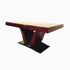 Mesa de comedor Art Déco de palisandro, años 30