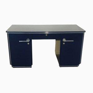 Blauer Art Deco Schreibtisch, 1920er