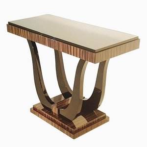 Art Deco Console Table with Macassar Veneer, 1920s