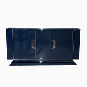 Aparador Art Déco grande en azul zafiro, años 30