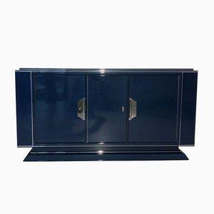 Credenza Art Deco blu zaffiro, anni '30