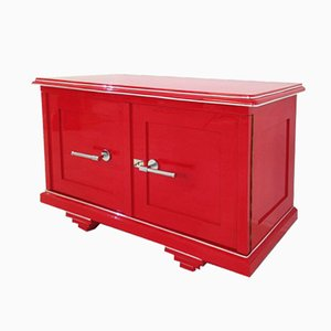 Red Art Deco Commode, 1920s