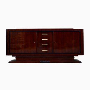 Large Art Deco Sideboard with a Dark Walnut Veneer, 1920s