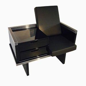 Großer Art Deco Sessel mit Schubladen, 1920er