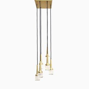 Lampada a cascata a sei luci di Staff Leuchten, anni '60