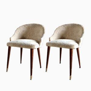 Mid-Century Italian Cocktail Chairs, Set of 2