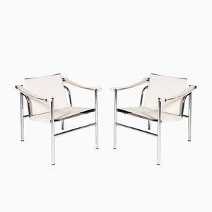 Chaises LC1 par Le Corbusier pour Cassina, 1980s, Set de 2
