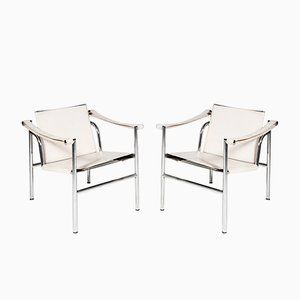LC1 Chairs by Le Corbusier for Cassina, 1980s, Set of 2