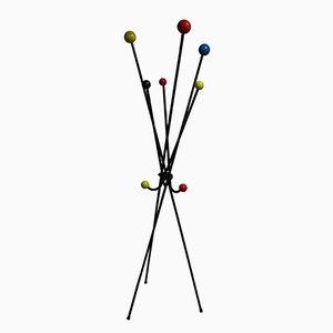 Attaccapanni MId-Century multicolore, anni '50