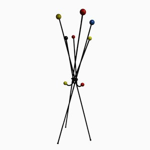 Mid-Century Multicolored Atomic Coat Stand, 1950s