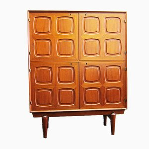 Flor Highboard in Teak by Rastad & Relling for Gustav Bahus, 1960s