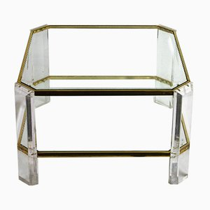 Brass and Lucite Coffee Table from Fedam, 1970s